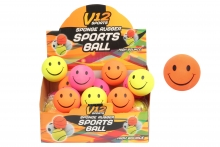 V12 Rubber Ball - Smiley Print, 2.5