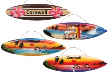Surfboard Hanging Plaque - Cornwall