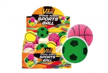 Rubber Ball - Sports Prints, 2.5""