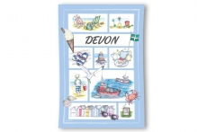 Devon Souvenir Tea Towel