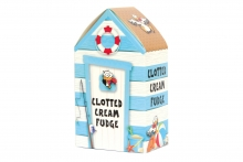 Clotted Cream Fudge In Beach Hut Gift Box