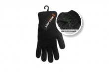 Mens Teddy Lined Knitted Gloves