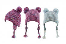 Child's Thermal Twin Bobble Hat
