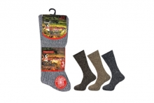 Mens Plain Wool Blend Socks