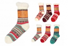 Ladies Sherpa Fleece Lined Socks