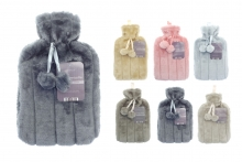 Hot Water Bottle - Deluxe Faux Fur