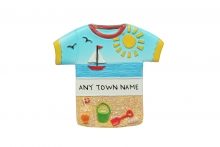 Magnet - Beach T-Shirt, Named