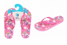Unicorn Flip Flops - Girls, Size 10-2