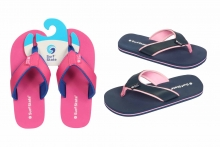 Ladies Flip Flops, Fabric Strap, Size 3-8