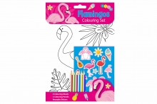 Flamingo Colouring Set