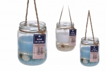 Shell & Sand Nautical Candle