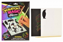 Magic Scratch Art Set With Stencils
