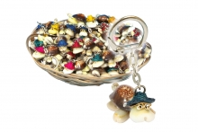 Keyring - Shell Turtle, In Basket