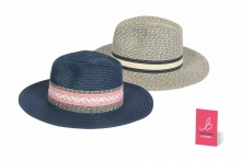 Unisex Fedora Hat With Pattern Band