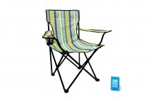 Folding Chair & Arms - Striped