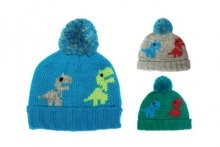 Boys Hat - Chunky Knit Dinosaur