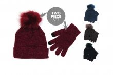 Ladies Hat & Gloves Set